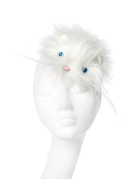PIERS ATKINSON  White Fluffy Cat Hat
