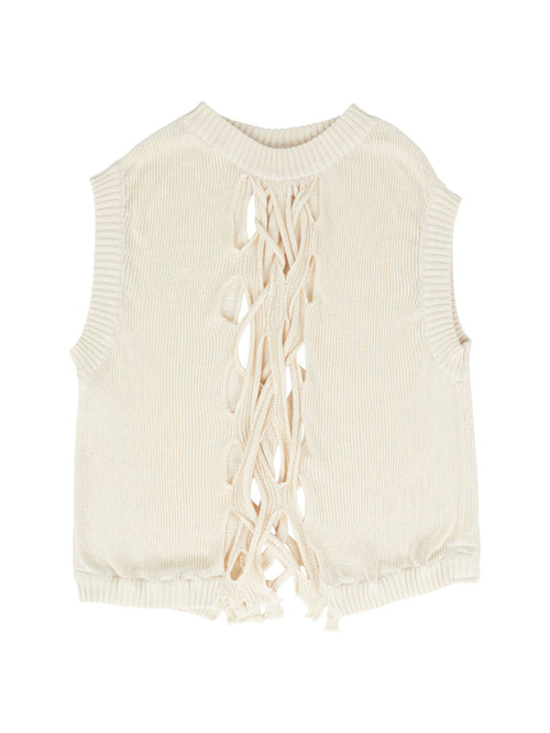 odd92 Per Götesson Spring/Summer 2019 Menswear Cable Knit Vest - 1