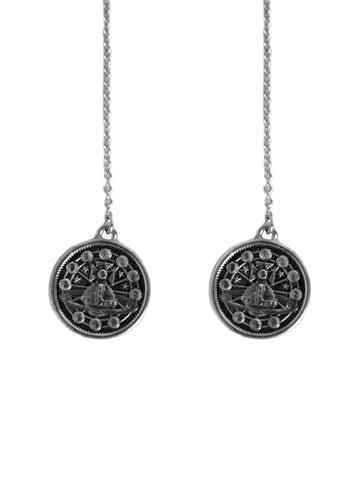 Titania Medal Chain Earrings