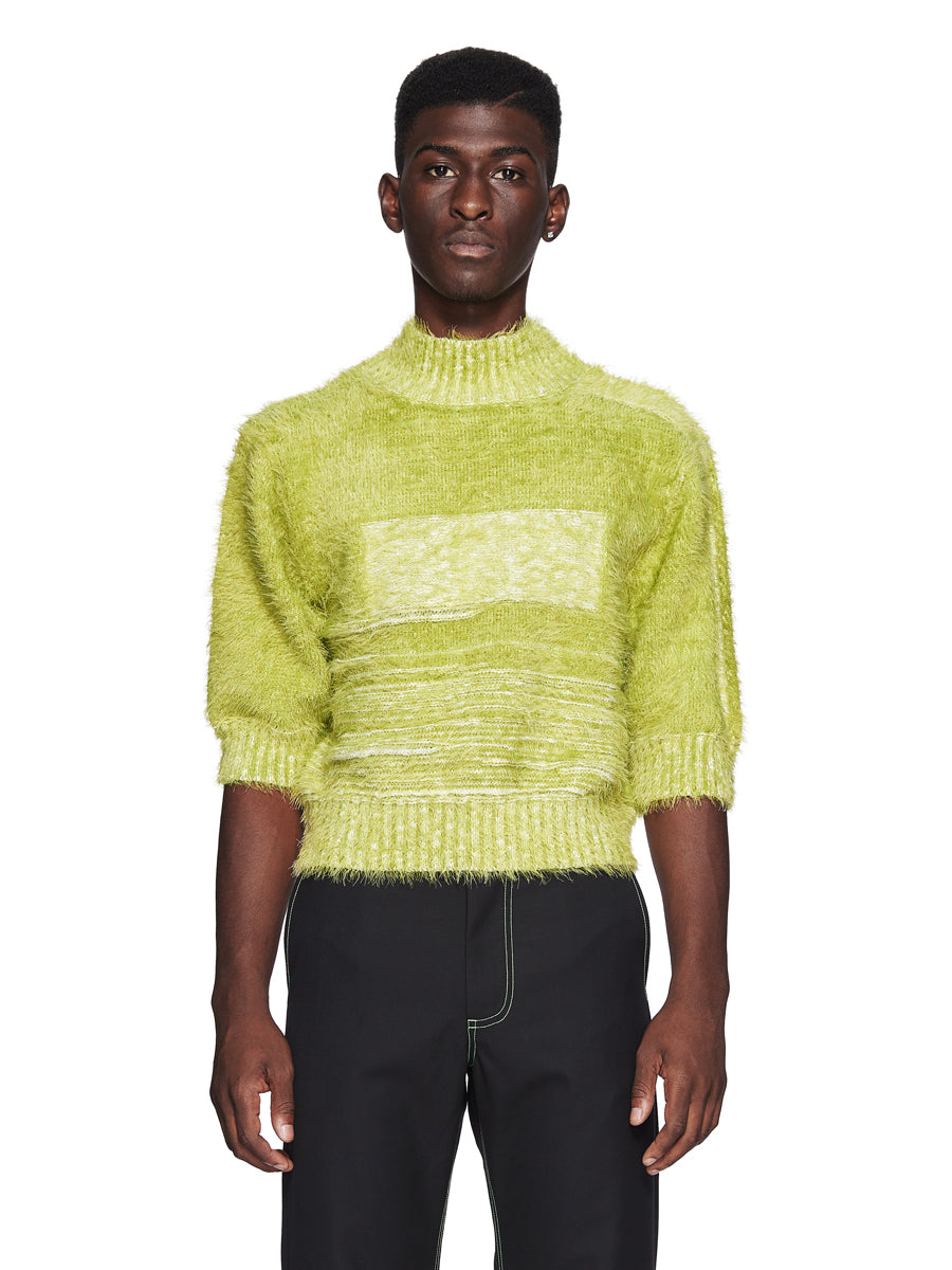 Chin Menswear Intl. Apple Green Furry Jumper Fall/Winter 2018 odd92 - 1