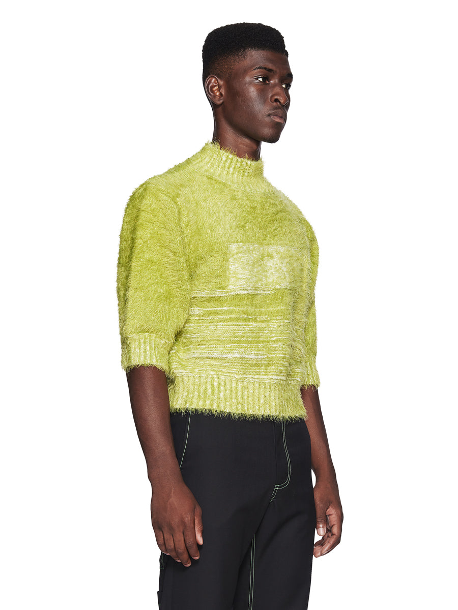 Chin Menswear Intl. Apple Green Furry Jumper Fall/Winter 2018 odd92 - 2