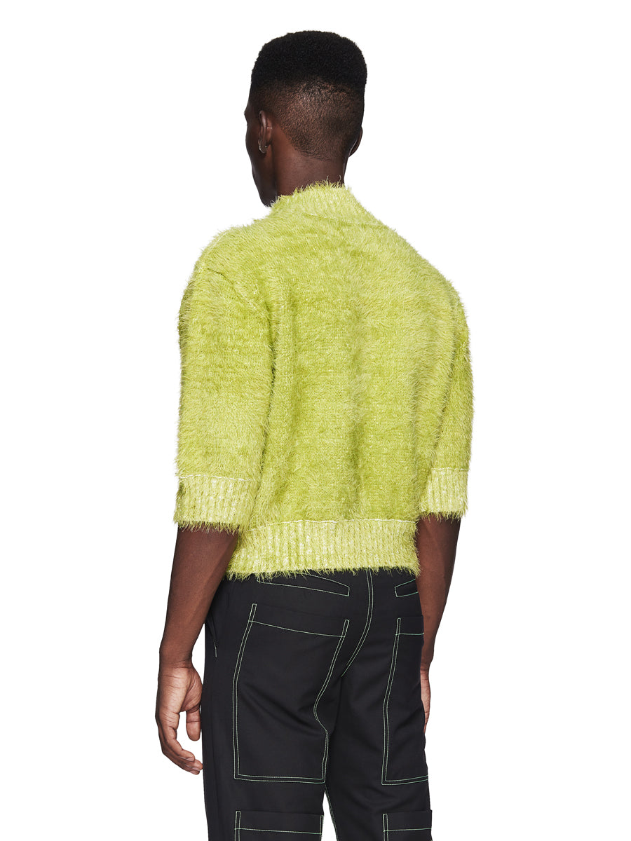 Chin Menswear Intl. Apple Green Furry Jumper Fall/Winter 2018 odd92 - 3
