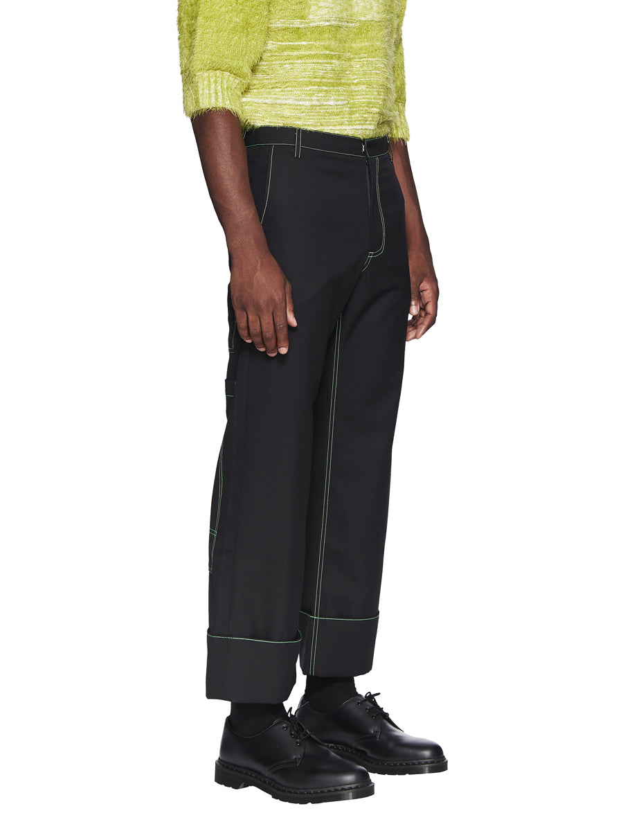Chin Menswear Intl. Black Patch Pocket Trousers Fall/Winter 2018 odd92 - 2