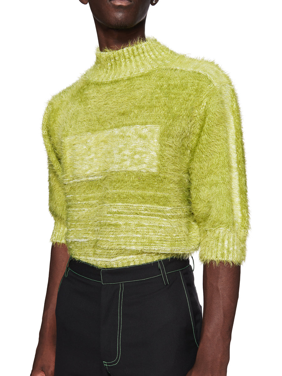 Chin Menswear Intl. Apple Green Furry Jumper Fall/Winter 2018 odd92 - 5