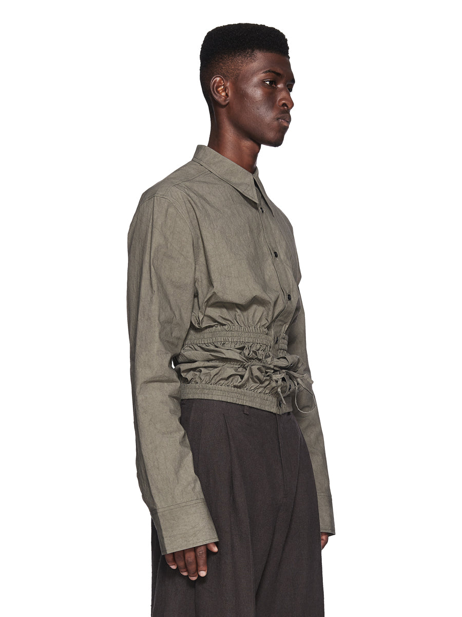 Chin Menswear Intl. Cement Grey Gathering Shirt Fall/Winter 2018 odd92 - 2