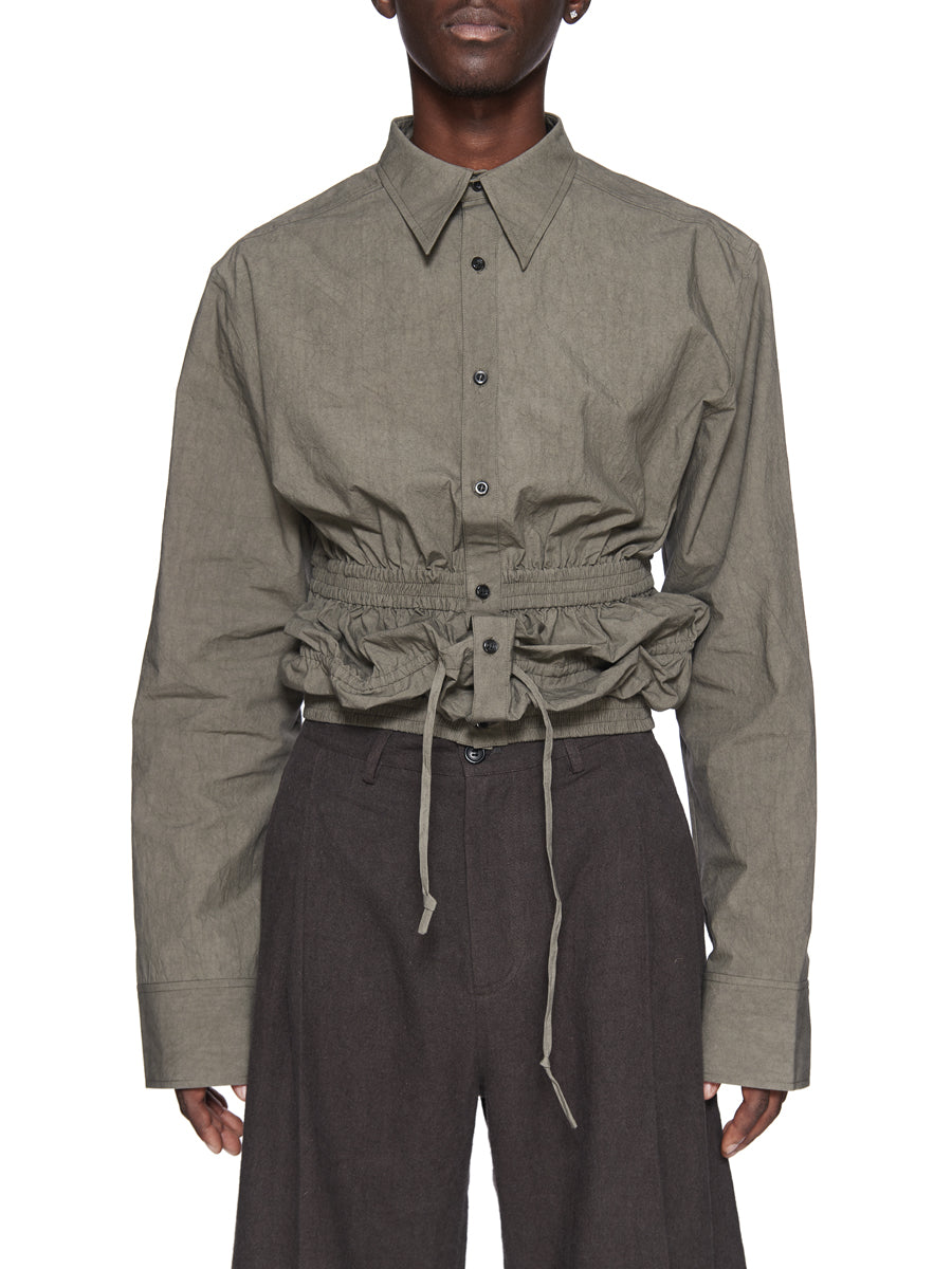 Chin Menswear Intl. Cement Grey Gathering Shirt Fall/Winter 2018 odd92 - 5