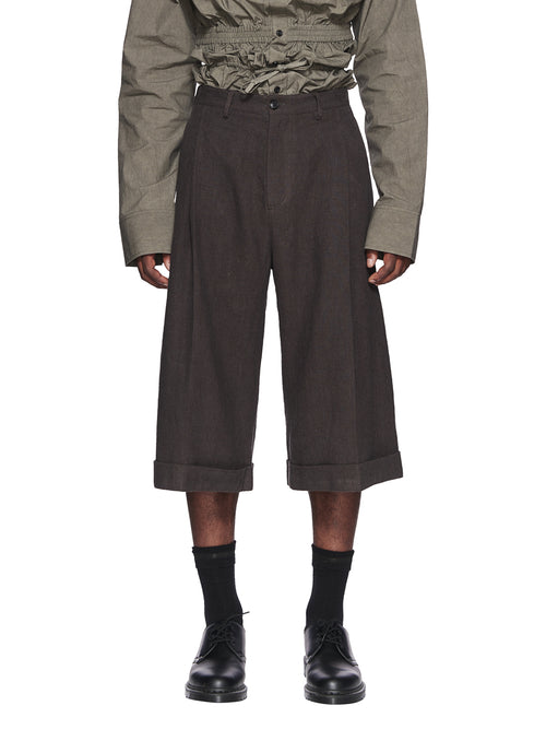 Chin Menswear Intl. Dark Grey Linen Culottes Fall/Winter 2018 odd92 - 1