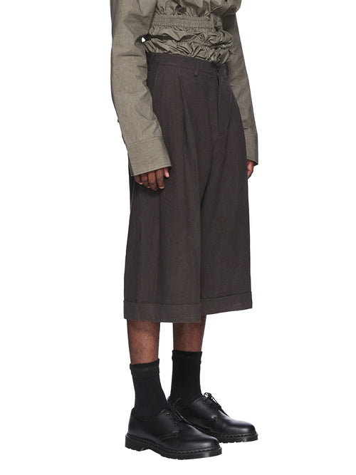 Chin Menswear Intl. Dark Grey Linen Culottes Fall/Winter 2018 odd92 - 2