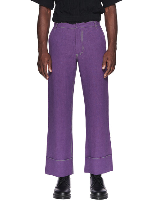 Chin Menswear Intl. Purple Patch Pocket Trousers Fall/Winter 2018 odd92 - 1