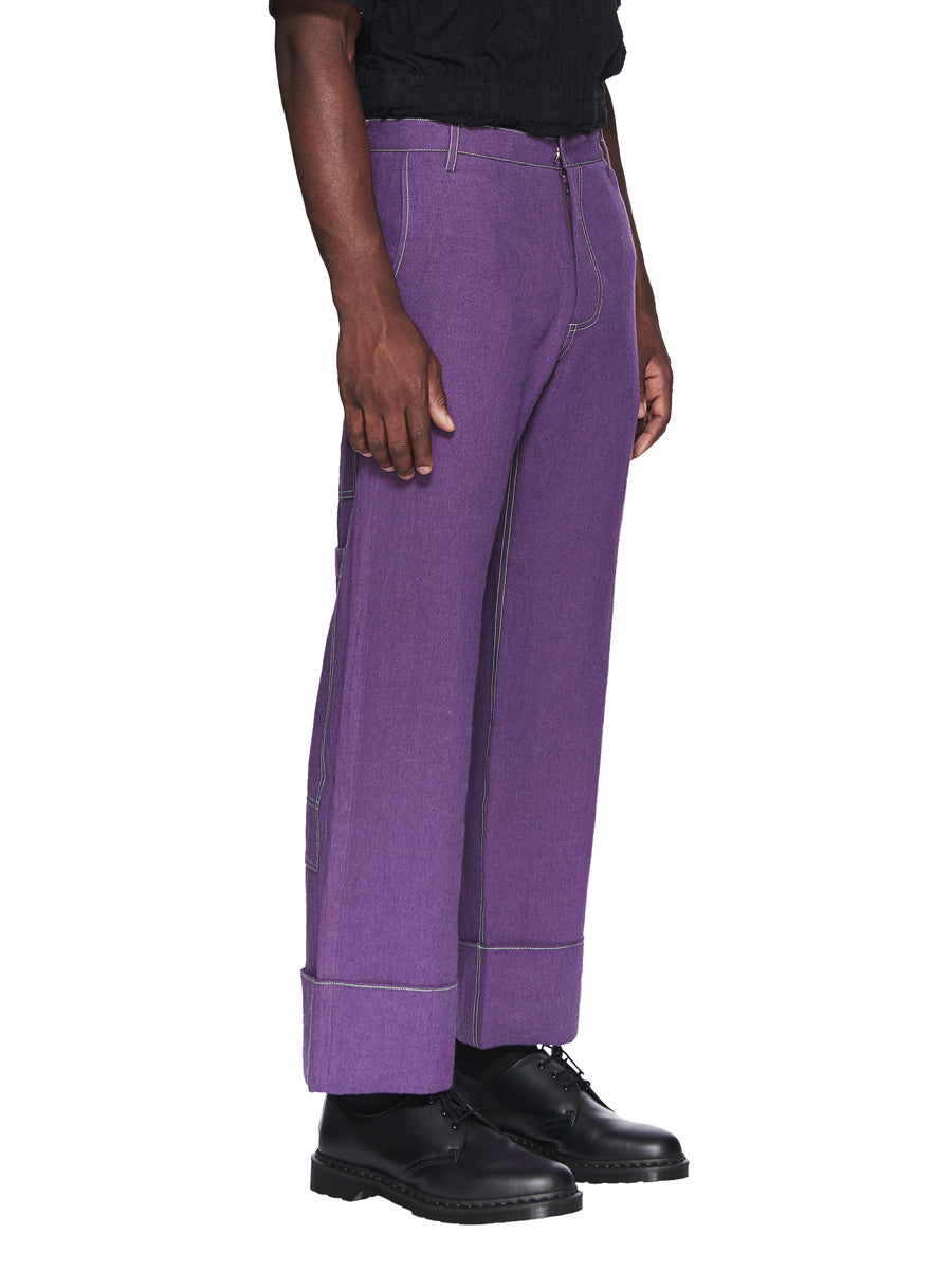 Chin Menswear Intl. Purple Patch Pocket Trousers Fall/Winter 2018 odd92 - 3