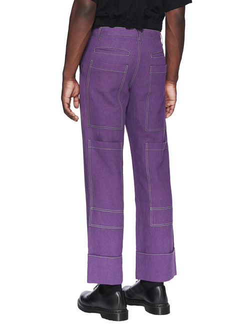 Chin Menswear Intl. Purple Patch Pocket Trousers Fall/Winter 2018 odd92 - 2