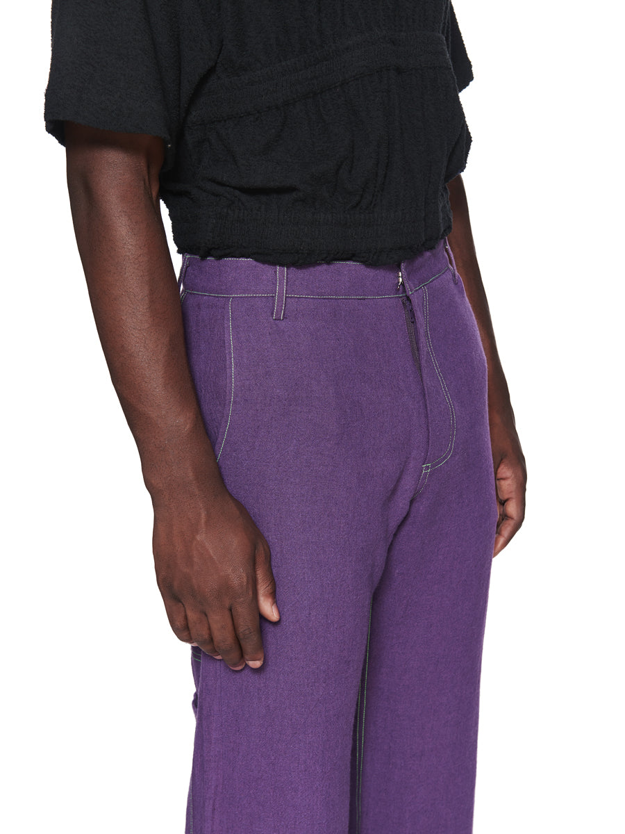 Chin Menswear Intl. Purple Patch Pocket Trousers Fall/Winter 2018 odd92 - 6