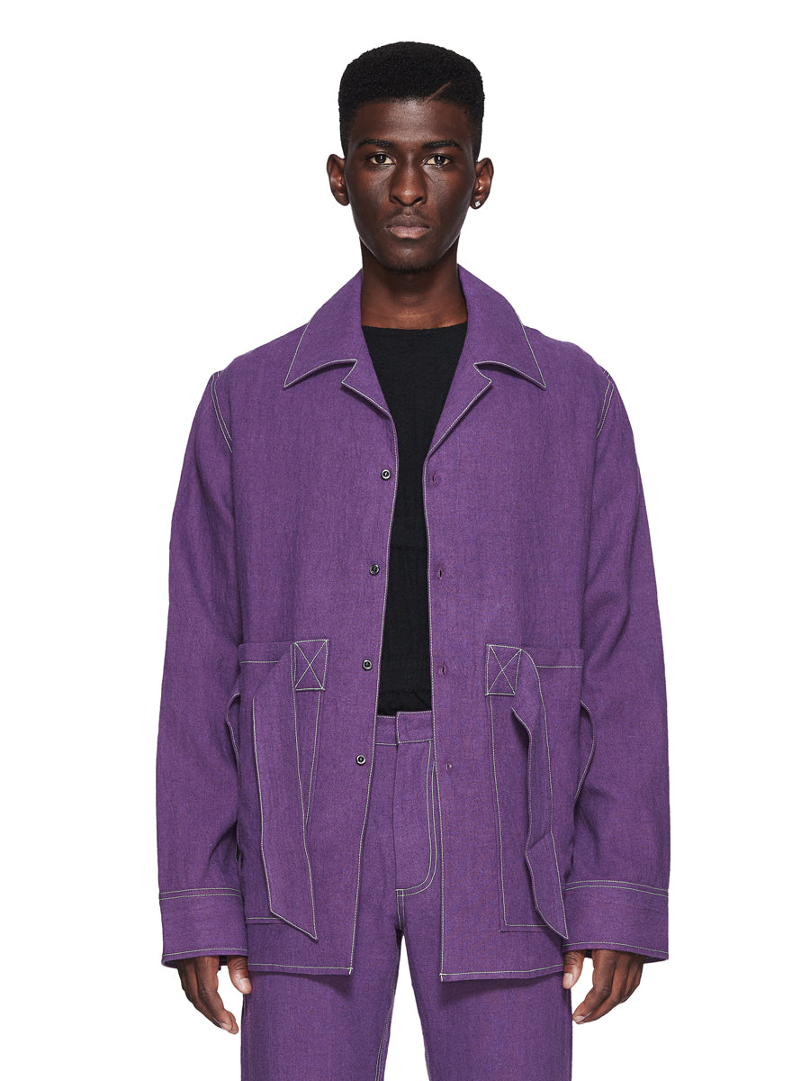 Chin Menswear Intl. Purple Ribbon Pocket Shirt Fall/Winter 2018 odd92 - 5