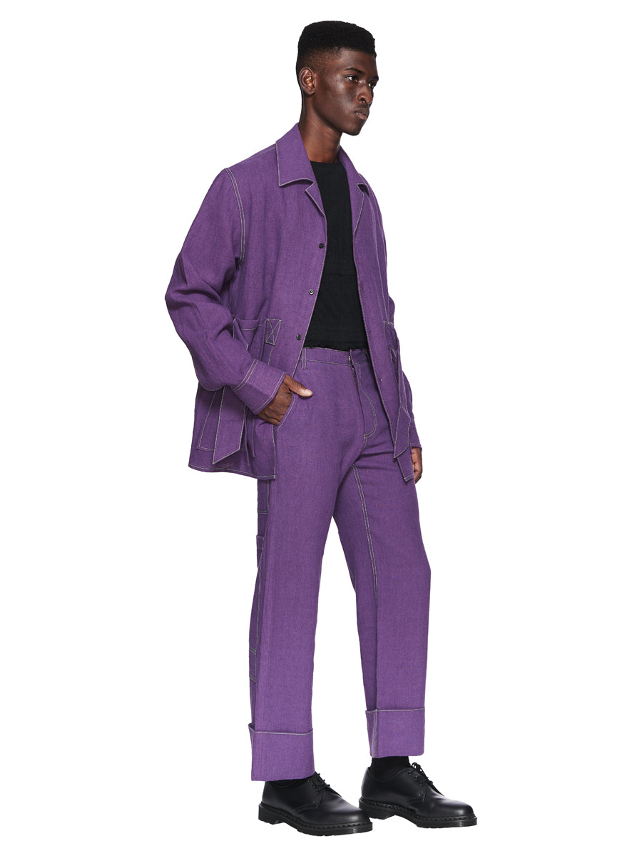 Chin Menswear Intl. Purple Ribbon Pocket Shirt Fall/Winter 2018 odd92 - 4