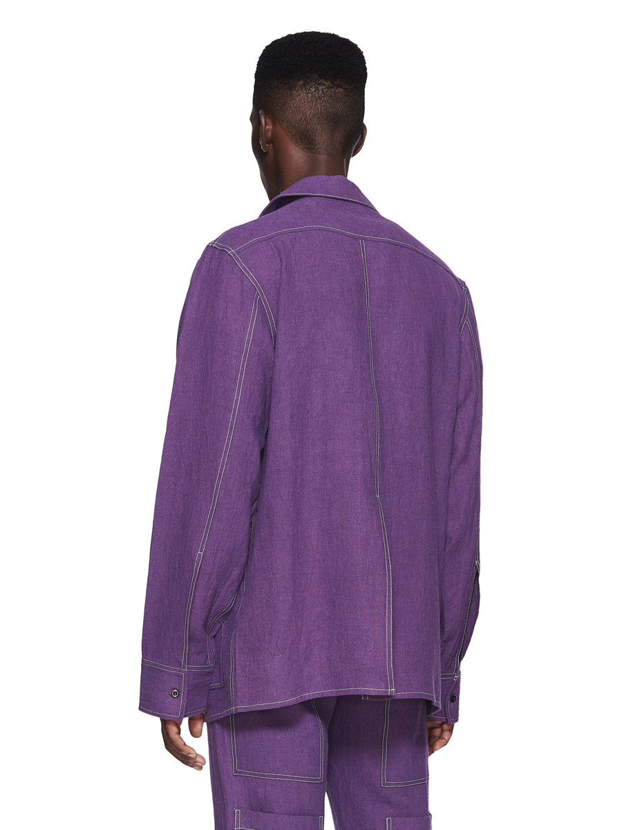 Chin Menswear Intl. Purple Ribbon Pocket Shirt Fall/Winter 2018 odd92 - 3