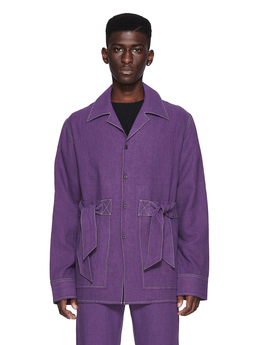 Chin Menswear Intl. Purple Ribbon Pocket Shirt Fall/Winter 2018 odd92 - 1