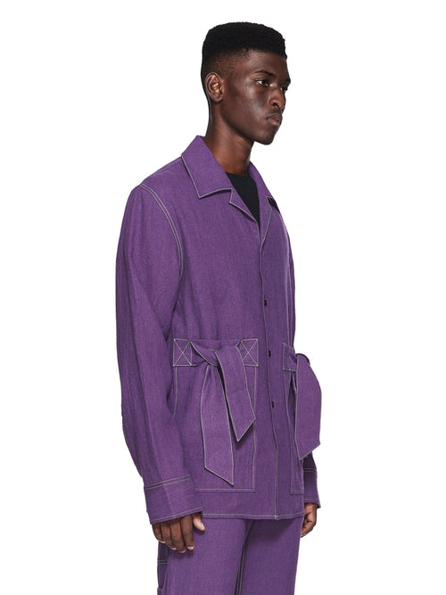 Chin Menswear Intl. Purple Ribbon Pocket Shirt Fall/Winter 2018 odd92 - 2