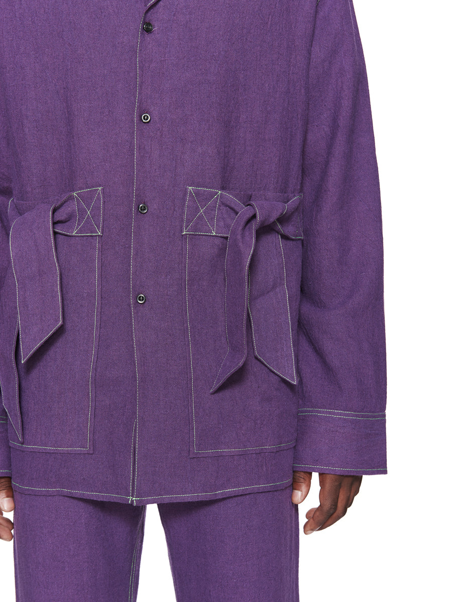 Chin Menswear Intl. Purple Ribbon Pocket Shirt Fall/Winter 2018 odd92 - 6