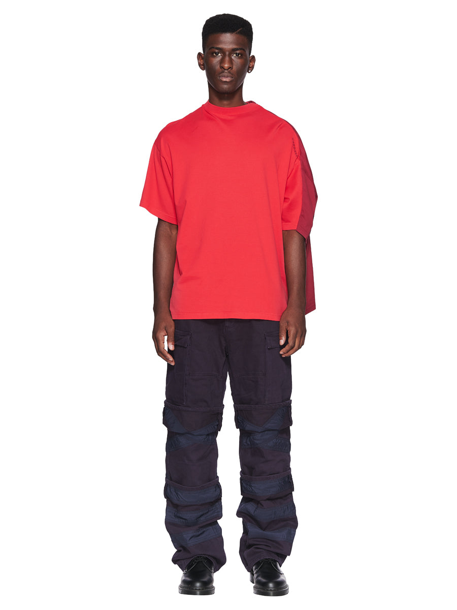 Y/Project Fall/Winter 2018 Menswear Red Double Short-Sleeve T-Shirt odd92 - 4