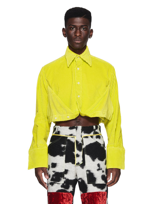 Oloapitreps Fall/Winter 2018 Cropped Neon Yellow Shirt odd92 - 1