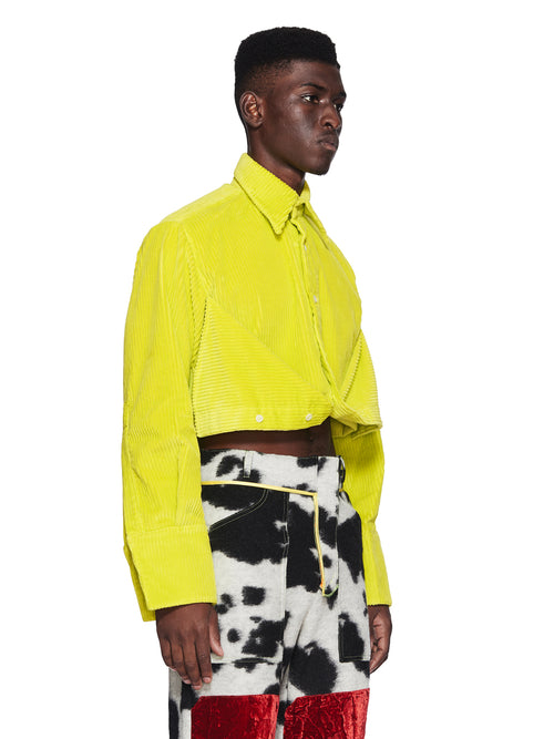 Oloapitreps Fall/Winter 2018 Cropped Neon Yellow Shirt odd92 - 2