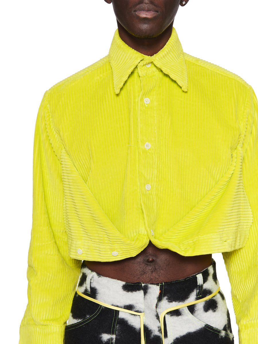 Oloapitreps Fall/Winter 2018 Cropped Neon Yellow Shirt odd92 - 4
