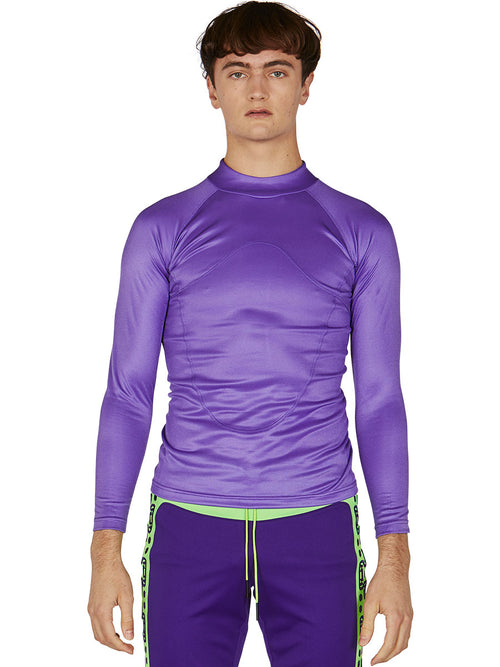 odd92 Sankuanz Purple Paneled Long-Sleeve T-Shirt Spring/Summer 2019 Menswear - 2