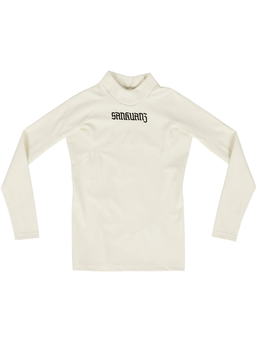 odd92 Sankuanz Off-White Pleather Slim T-Shirt Spring/Summer 2019 Menswear - 1