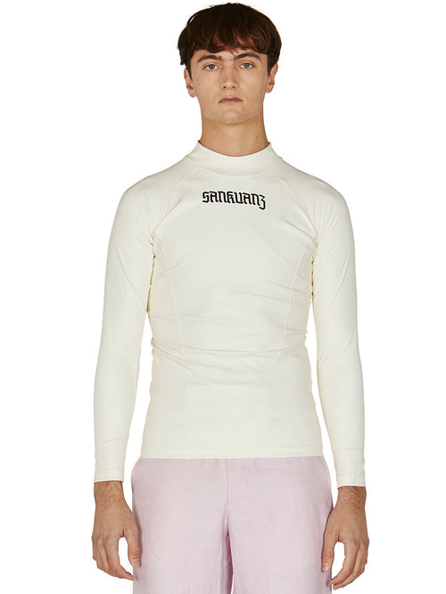 odd92 Sankuanz Off-White Pleather Slim T-Shirt Spring/Summer 2019 Menswear - 2