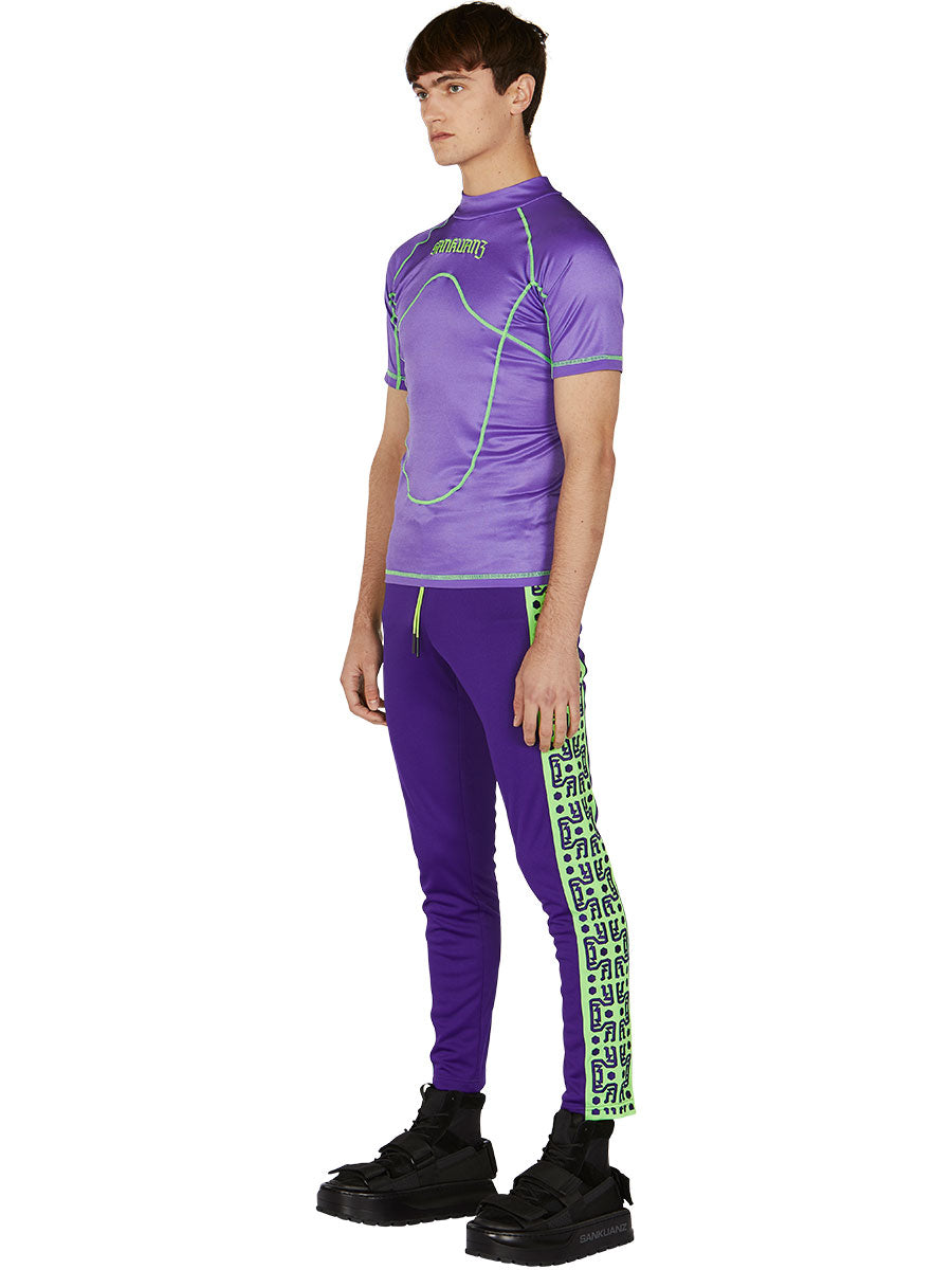 odd92 Sankuanz Purple Paneled T-Shirt Spring/Summer 2019 Menswear - 4