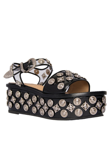 Embellished Platform Sandals