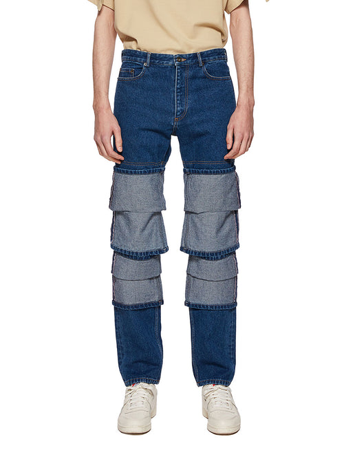Y/Project Blue Multi Cuff Jeans - 1