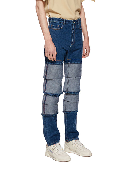 Y/Project Blue Multi Cuff Jeans - 2