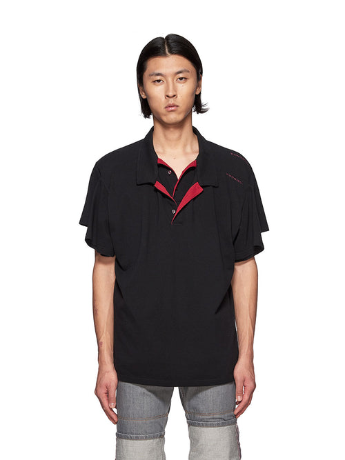 Y/Project Black Double Polo T-Shirt - 1