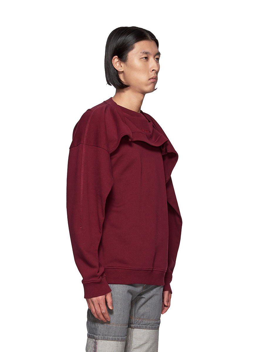 Y/Project Double Shoulder Sweatshirt Burgundy - 3