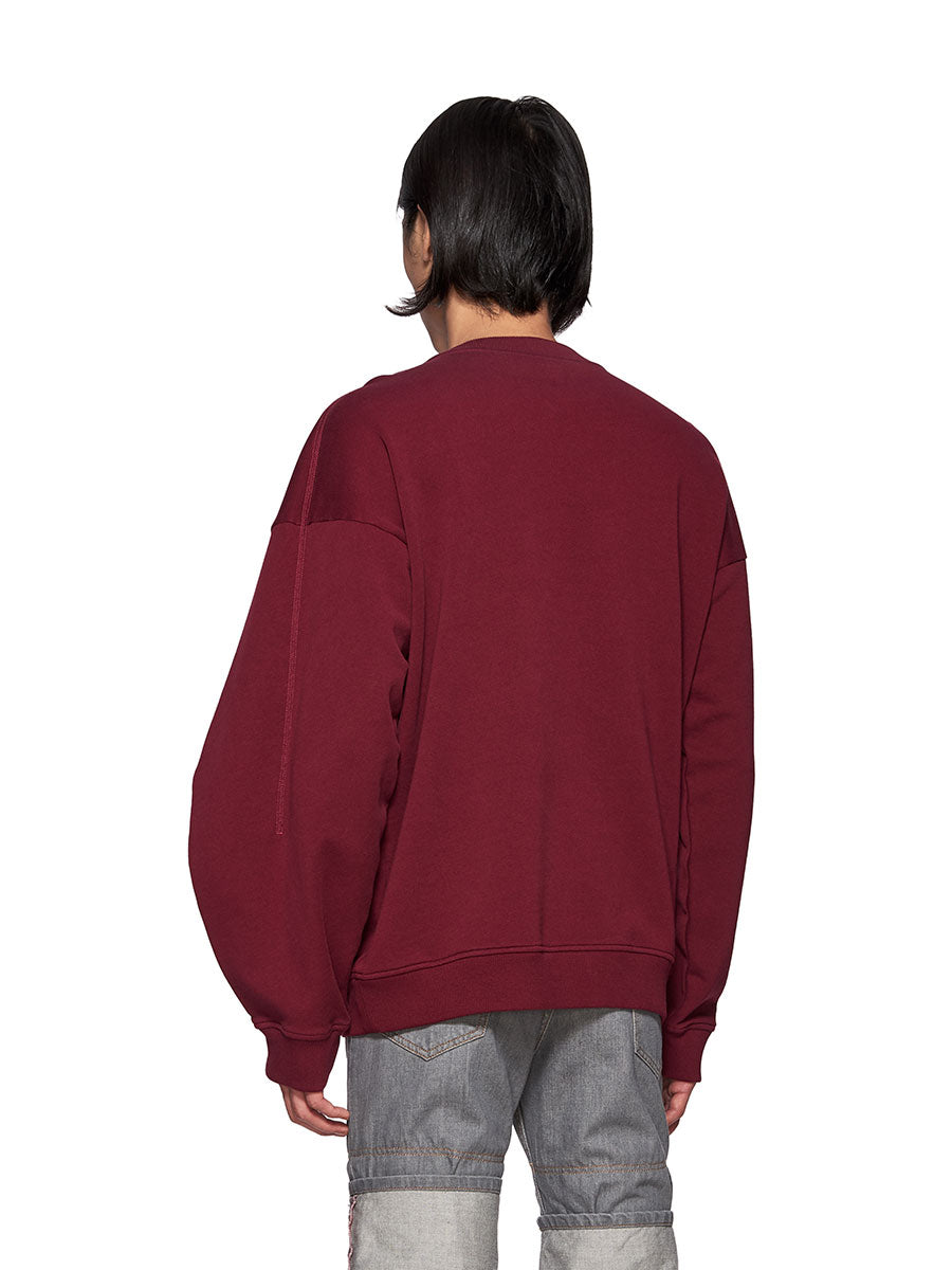 Y/Project Double Shoulder Sweatshirt Burgundy - 4