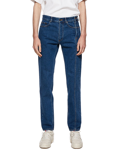 Y/Project Blue Multi Fly Jeans - 1