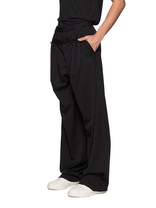 Y/Project Black Slouch Front Trousers - 2