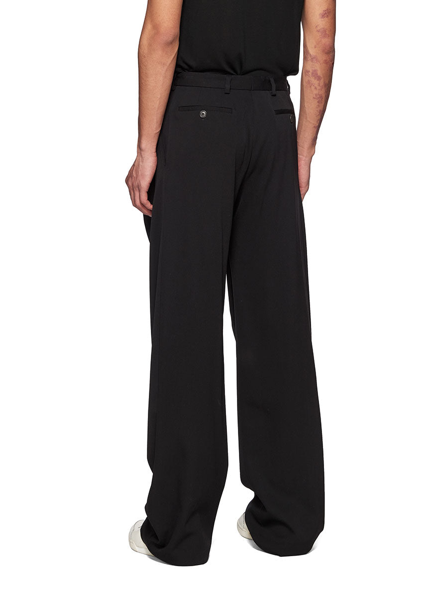 Y/Project Black Slouch Front Trousers - 3