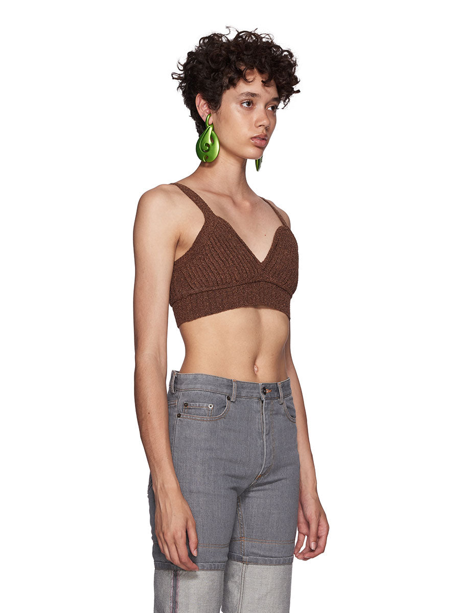 Y/Project SS18 Brown Silk Knit Top - 2