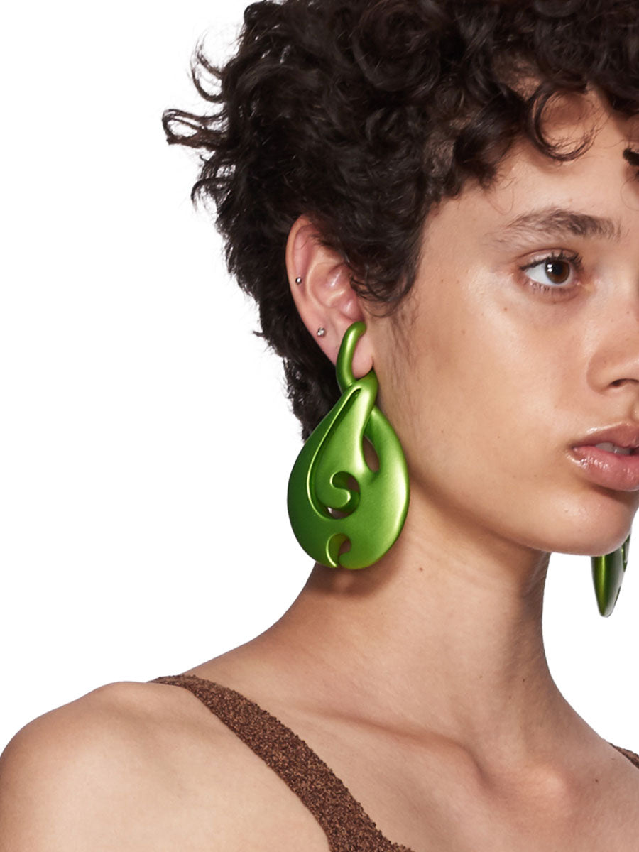 Y/Project SS18 Green Waterdrop Earrings - 2