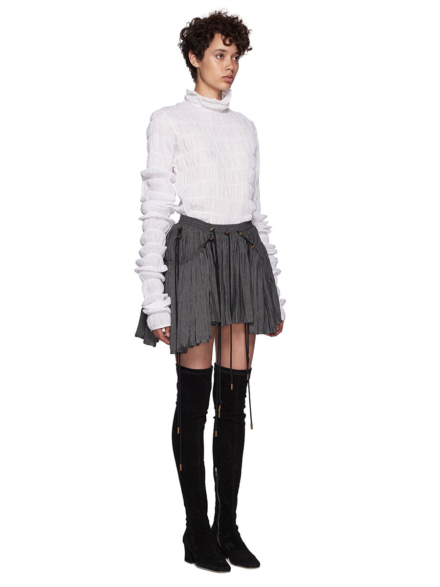 Y/Project White Ruffle Rollneck Top - 6