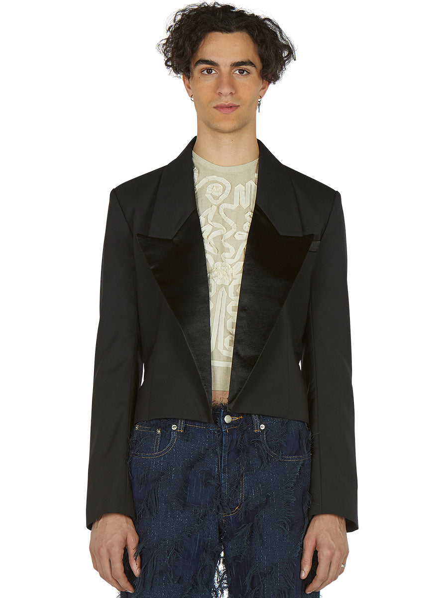 Cropped Suit Jacket