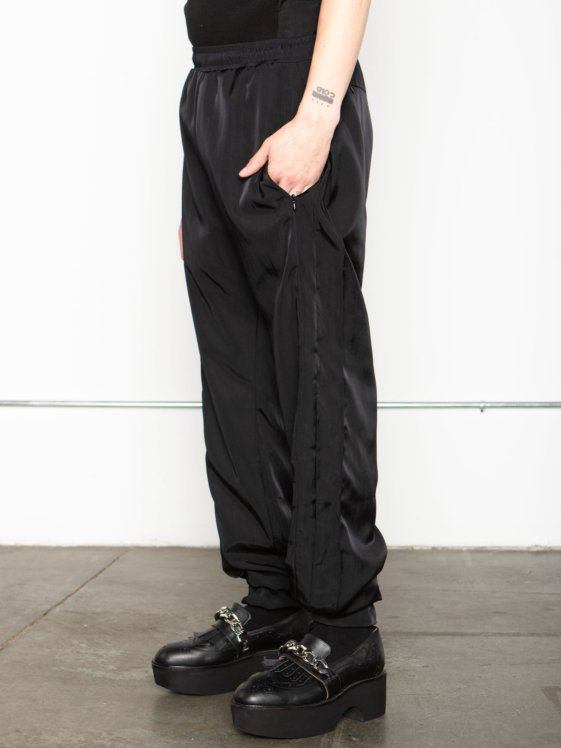 odd92 Shop Cottweiler Spring/Summer 2020 Menswear Black Caddie Track Pants - 3