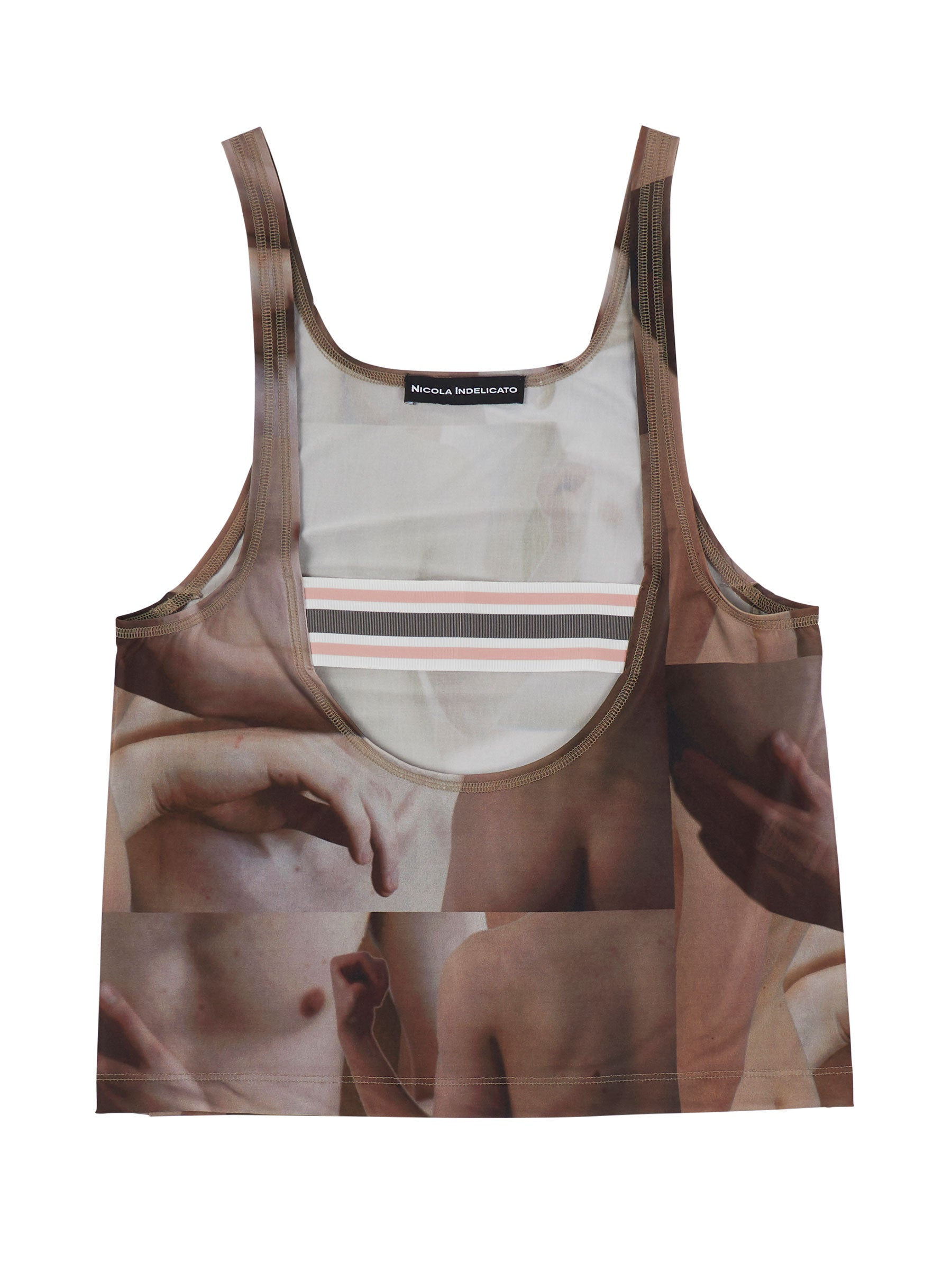 odd92 Nicola Indelicato Nude Print Wrestler Top Fall/Winter 2019 Menswear - 1