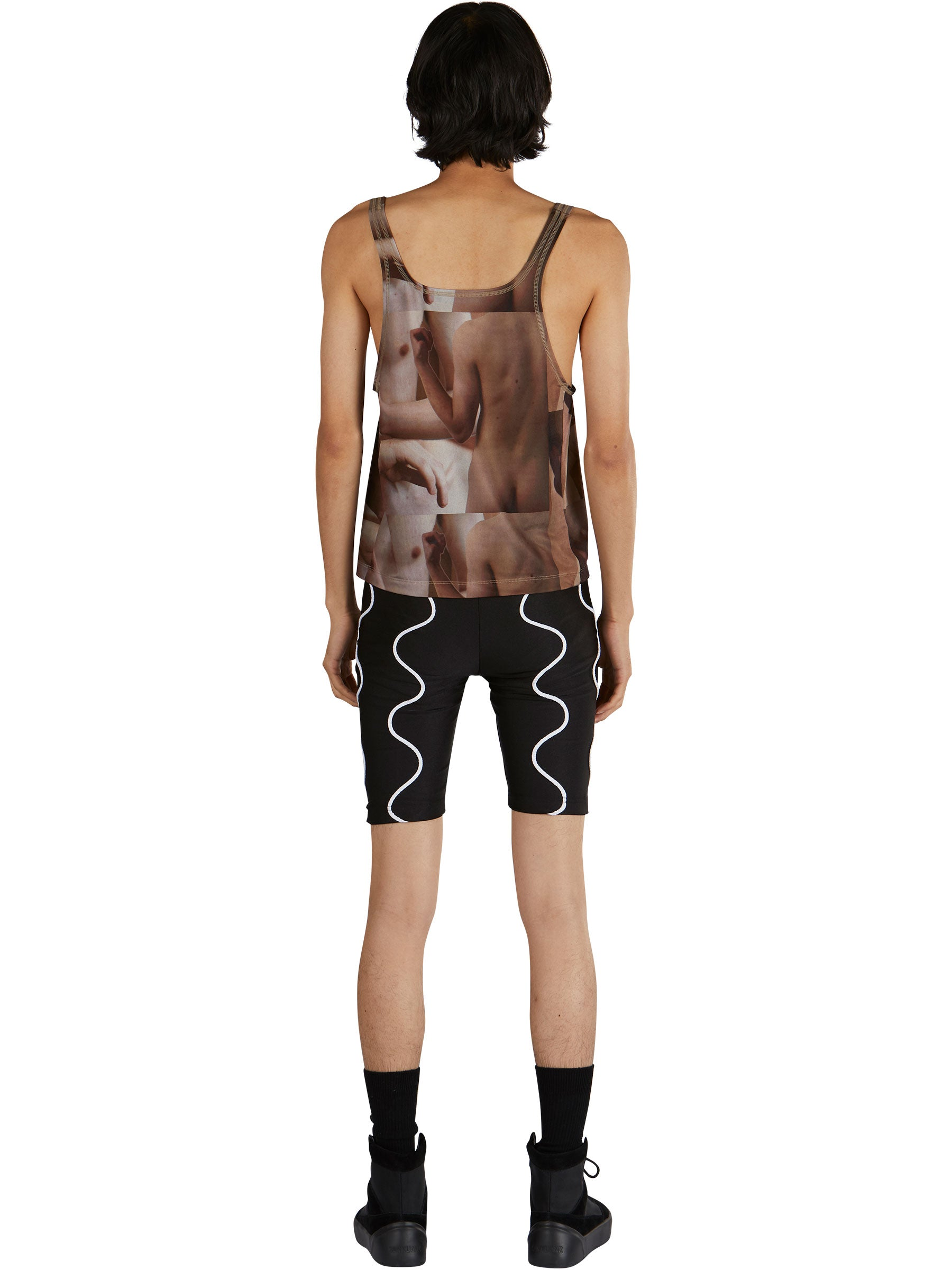 odd92 Nicola Indelicato Nude Print Wrestler Top Fall/Winter 2019 Menswear - 4