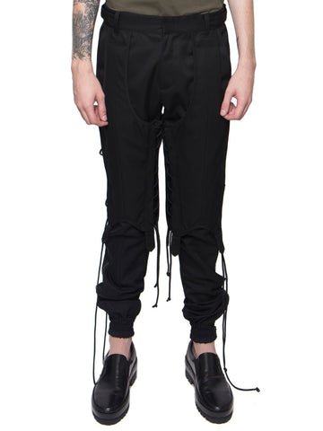 Double Layered Lace-Up Trousers