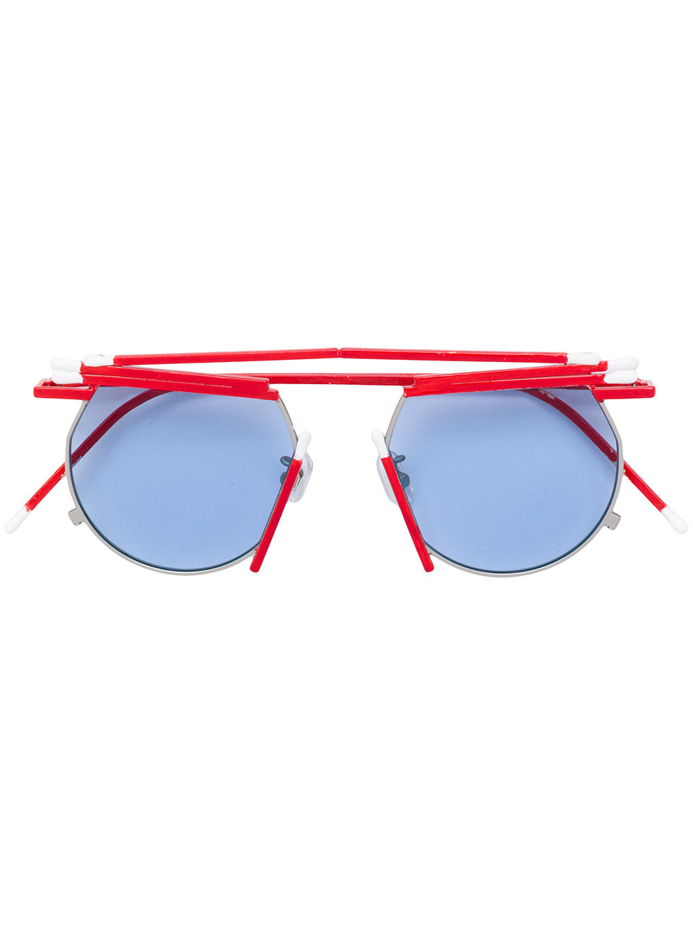 Henrik Vibskov x Gentle Monster red white match sunglasses - 1