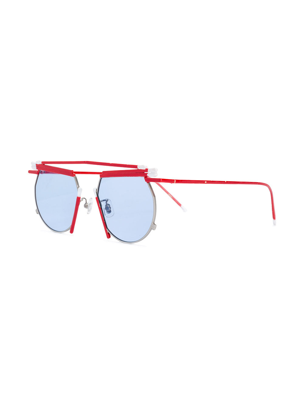 Henrik Vibskov x Gentle Monster red white match sunglasses - 2