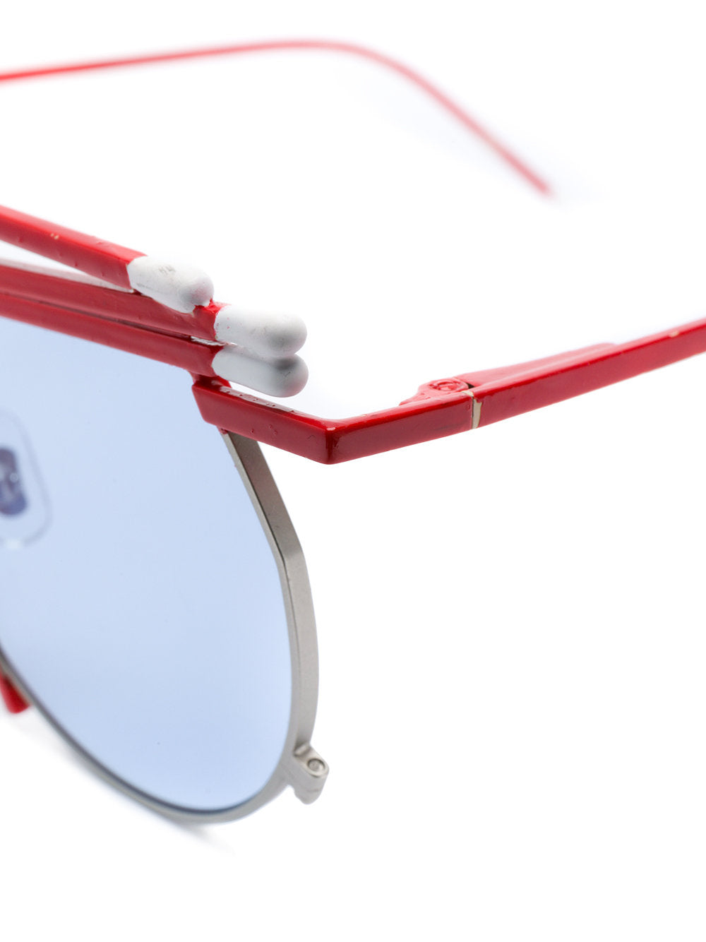 Henrik Vibskov x Gentle Monster red white match sunglasses - 3